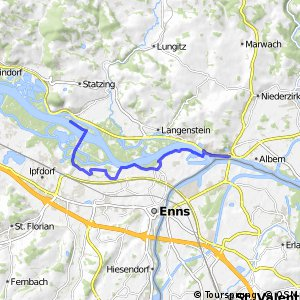 EuroVelo 6 - part Austria - leg 4 south (Sankt Georgen - Mauthausen)