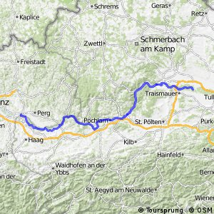 EuroVelo 6 - part Austria - leg 6 south (Mauthausen - Altwörth)