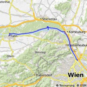 EuroVelo 6 - part Austria - leg 8 north (Tulln - Wien)