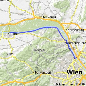 EuroVelo 6 - part Austria - leg 8 south (Tulln - Wien)