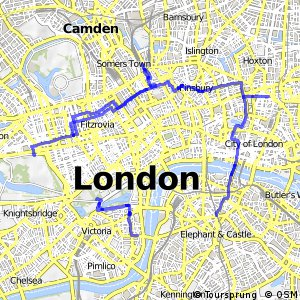London Cycle Network route 0 - Stations Circular