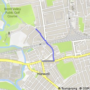 London Cycle Network route 87 (Hanwell detour)
