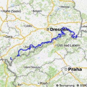Sächsische Mittelgebirgsroute
