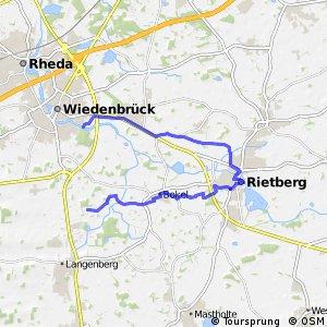 BahnRadRoute Hellweg-Weser Alternative Rietberg