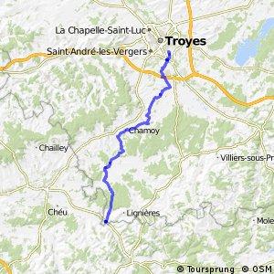 Véloroute Troyes - Marolles-sous-lignières