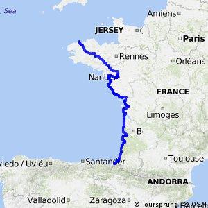 EuroVelo 1 - Route du littoral Atlantique Vélodyssée