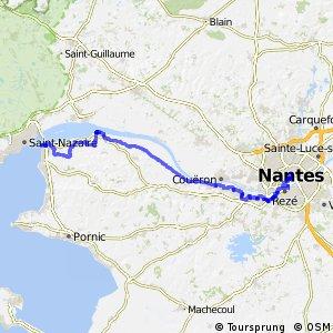 EV1 : Nantes ↔ Saint-Brevin-les-Pins