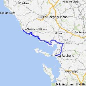 EV1 Les Sables d'Olonne > La Rochelle
