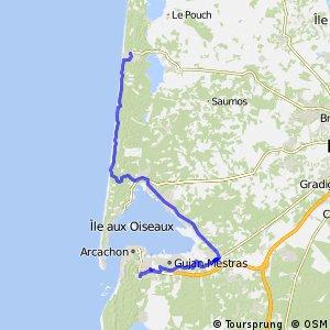 EV1 Lacanau-Océan > Arcachon