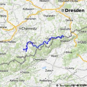 Sächsische Mittelgebirgsroute [Altenberg↔Annaberg]