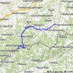 Sächsische Mittelgebirgsroute [Annaberg↔Schöneck]