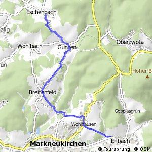 Sächsische Mittelgebirgsroute [Schöneck↔Plauen]