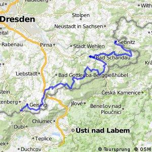 Sächsische Mittelgebirgsroute [Sebnitz↔Altenberg]