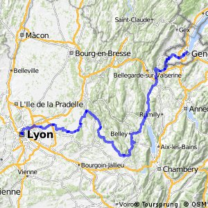 Via Rhôna - Genève > Lyon