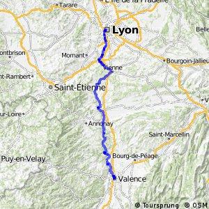Via Rhôna - Lyon - Valence