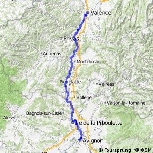 Via Rhôna - Valence > Avignon