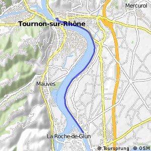 Via Rhôna - Variante Saint-Vallier > Tain l'Hermitage