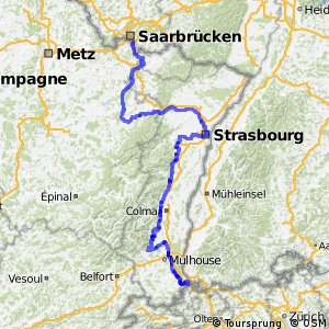 EuroVelo 5 - part France East