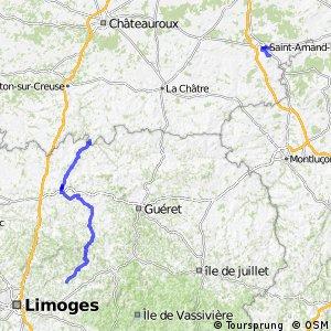 Véloroute Vézelay Saint-Jacques-de-Compostelle