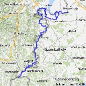 Vasfüggöny kerékpárút - magyar szakasz