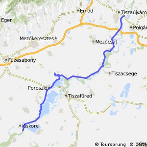 Tiszaújváros - Kisköre (4C, EV11)