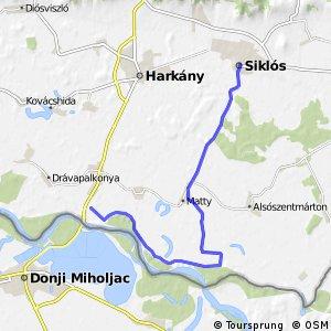 Három folyó Drávaszabolcs - Matty - Siklós mellékvonal