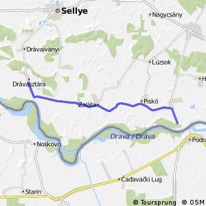 Három folyó Drávasztára - Zaláta - Piskó - Vejti mellékvonal