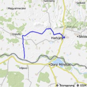 Három folyó Sámod - Rádfalva - Harkány mellékvonal