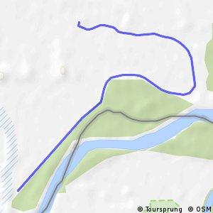Három folyó Tésenfa - gáton mellékvonal