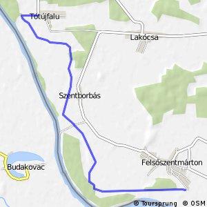Három folyó Tótújfalu - Felsőszentmárton mellékvonal