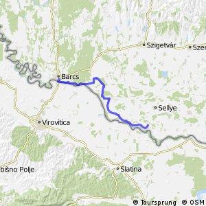 Három folyó Barcs - Drávasztára fővonal