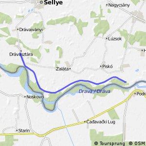 Három folyó Drávasztára - Vejti fővonal
