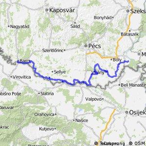 Dunántúli határmenti kerékpárút - Három Folyó (9A)