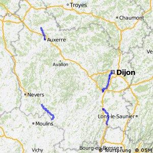 Tour de Bourgogne à Vélo (Projet)