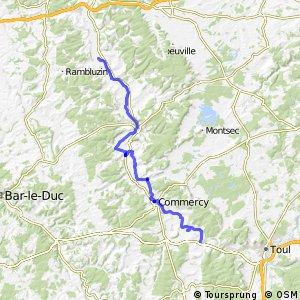 Véloroute de la Meuse - Genicouet-sur-Meuse > Troussey