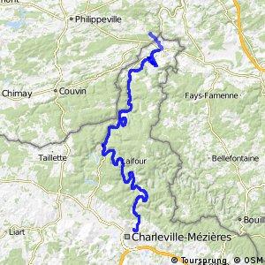 Véloroute de la Meuse - Gimont > Montcy-Notre-Dame