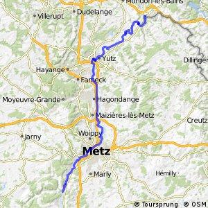 """Véloroute """"Charles le Téméraire"""" - Apach - Novéant-sur-Moselle"""