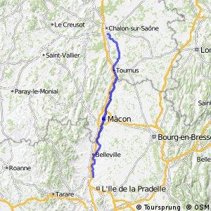 """Véloroute """"Charles le Téméraire"""" - Chalon-sur-Saône > Villefranche-sur-Saône"""