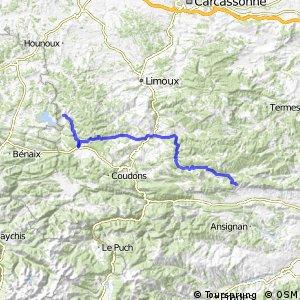 Véloroute du Piémont Pyrénéen - Traversée de l'Aude
