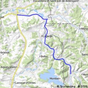 Véloroute du Piémont Pyrénéen Mirepoix - Chalabre