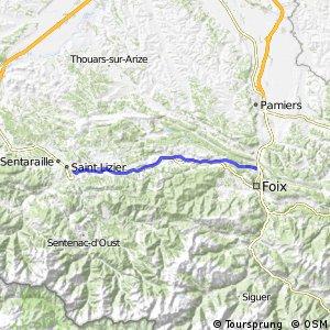Véloroute du Piémont Pyrénéen - Saint-Girons > Foix