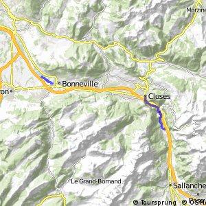 Véloroute du Lac Léman au Mont Blanc