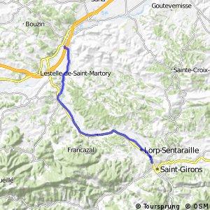 Véloroute du Piémont Pyrénéen - Roquefort-sur-Garonne > Saint-Girons