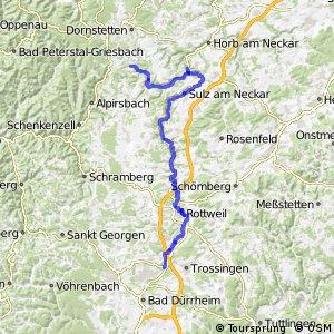 Radverkehrsnetz BW, Landkreis Rottweil