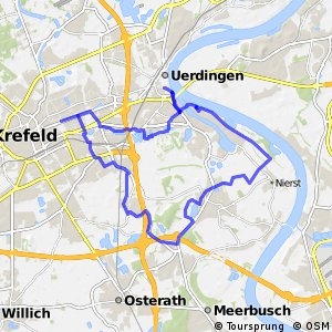Radroute Krefeld R4