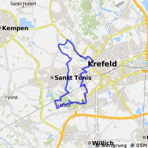 Radroute Krefeld R6