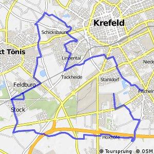 Radroute Krefeld R7