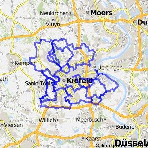 Radrouten der Stadt Krefeld