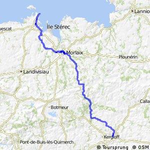 EV1 Roscoff > Carhaix