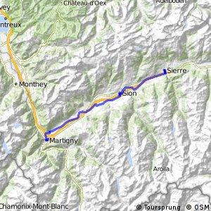 Route du Rhône - Etappe 4 (Sierre-Martigny)